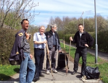 Bestyrelsen på den årlige renholdelsesdag